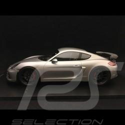 Porsche Cayman GT4 type 981 2016 1/18 Spark 18S298 gris métallisé metalic grey grau