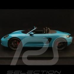 Porsche 718 Boxster S bleu Miami 2017 1/18 Spark 18S238 miami blue miamiblau