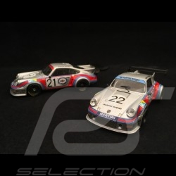 Duo Porsche 911 Carrera RSR 2.1 Turbo Le Mans 1974 Martini 1/43 IXO LMC158 LMC158B