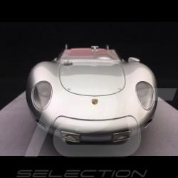 Porsche 718 RSK Spyder 1958 1/18 Tecnomodel TM18-82E Gris argent métallisé Spyder 1958 Silver grey metallic Spyder 1958 Silberg