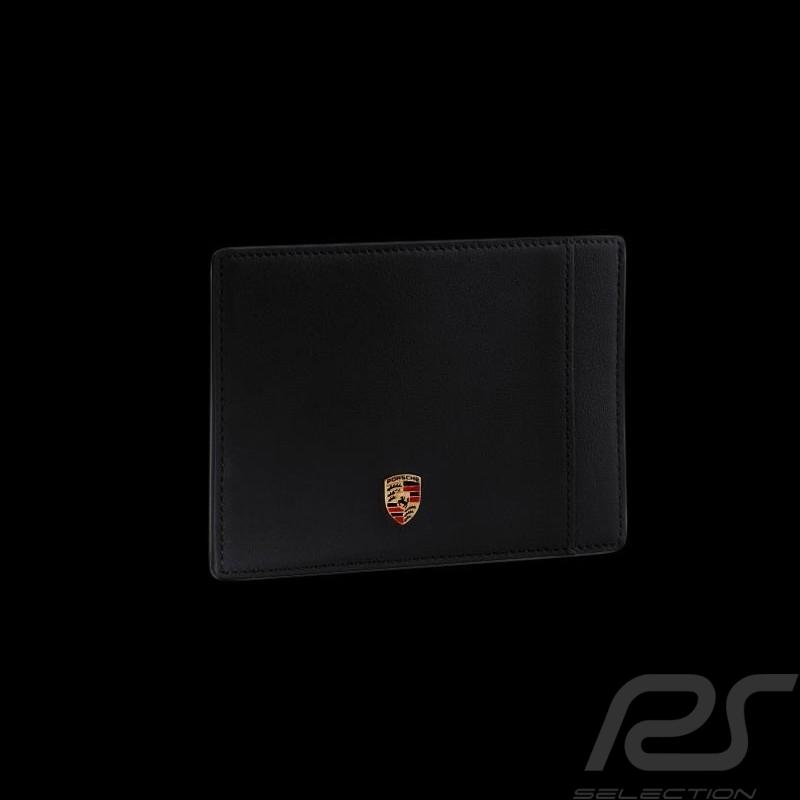 Porte-cartes Porsche écusson cuir noir Porsche Design WAP0300200E card holder Kartenhalter
