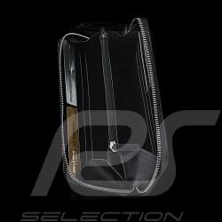 Portefeuille Porsche Porte-monnaie cuir noir motif perforé Porsche Design WAP9110010F wallet money holder Geldbörse Geldhalter