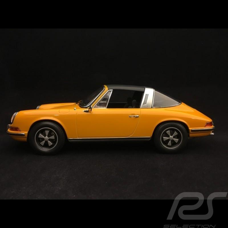 Porsche 911 2.0 E Targa 1969 1/18 Norev 187633 Jaune Signal yellow signalgelb