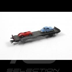 Wagon Porsche 70 ans Les années 50 Porsche Märklin HO 1/87 MAP10705018 45052 Auto Transport Car Autotransportwagen