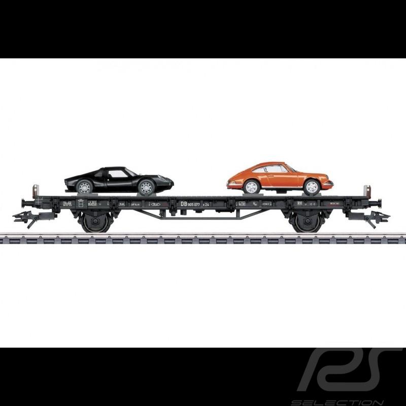 Wagon Porsche 70 ans Les années 60 Porsche Märklin HO 1/87 MAP10706018 45053 Auto Transport Car Autotransportwagen