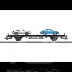 Wagon Porsche 70 ans Les années 90 Porsche Märklin HO 1/87 MAP10709018 45056 Auto Transport Car Autotransportwagen