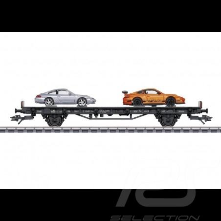 Wagon Porsche 70 ans Les années 2000 Märklin HO 1/87 MAP10700018 45057 Auto Transport Car Autotransportwagen