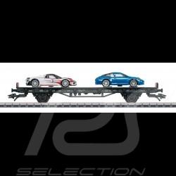 Wagon Porsche 70 ans Les années 2010 Märklin HO 1/87 MAP10701018 45058 Auto Transport Car Autotransportwagen