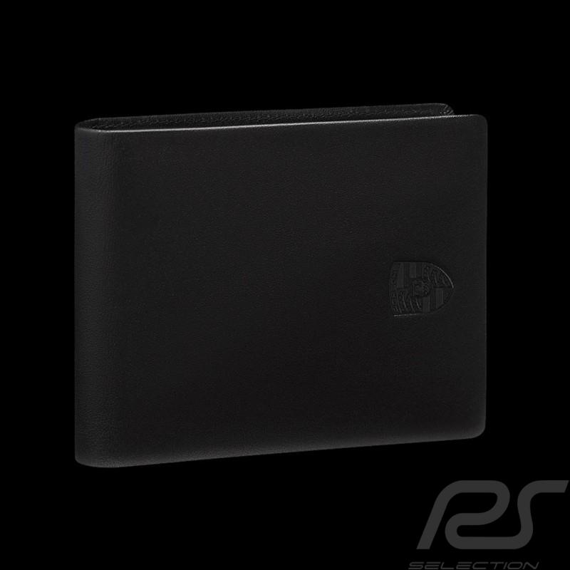 Portefeuille Porsche Porte-monnaie cuir noir écusson Porsche Design WAP0300310K wallet money holder Geldbörse Geldhalter