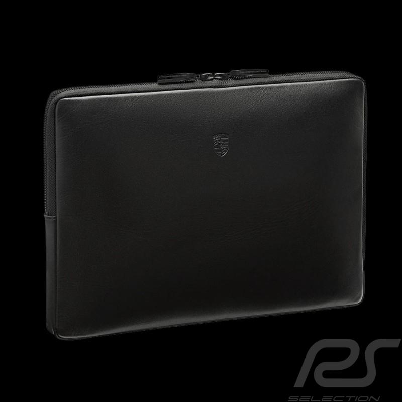 Porsche Housse pour ordinateur portable cuir noir Porsche Design WAP0300100K laptop case Laptop Hülle