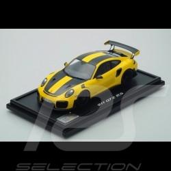 Porsche 911 GT2 RS type 991 Record au tour Nürburgring 2017 jaune / noir 1/12 Spark WAX02206473 lap record Rundenrekord