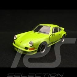 Porsche 911 Carrera RS 2.7 jouet à friction Welly vert / noir pull back toy Spielzeug Reibung green grun