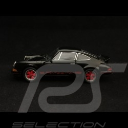 Porsche 911 Carrera RS 2.7 pull back toy Welly black / red