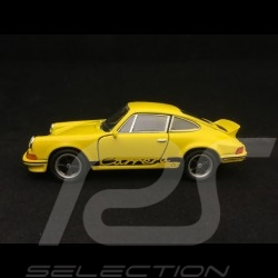Porsche 911 Carrera RS 2.7 pull back toy Welly yellow / black