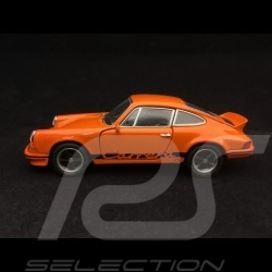 Porsche 911 Carrera RS 2.7 jouet à friction Welly orange / noir pull back toy Spielzeug Reibung