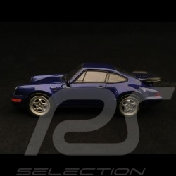 Porsche 911 Turbo type 964 1990 jouet à friction Welly bleu pull back toy Spielzeug Reibung blue blau