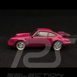 Porsche 911 Turbo type 964 1990 pull back toy Welly raspberry