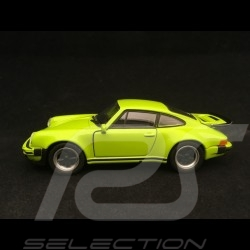 Porsche 911 Turbo 3.0 1975 jouet à friction Welly vert lumière pull back toy Spielzeug Reibung light green lichtgrün