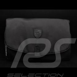 Trousse de toilette Porsche compacte noire avec écusson Porsche Design WAP9100070K0SR toilet bag Kulturbeutel