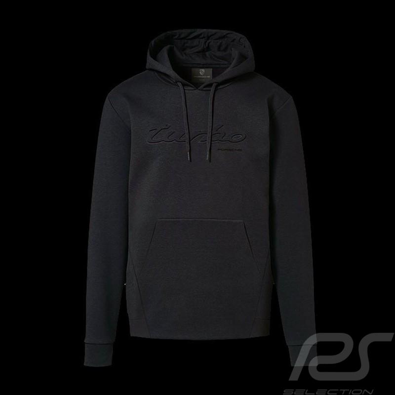 Sweatshirt à capuche Porsche Turbo Classic hoodie noir Porsche Design WAP518 - homme men herre kapuzen hood