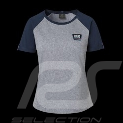 T-shirt Porsche Martini Collection Porsche Design WAP552 gris / bleu grey / blue grau / blau femme women damen