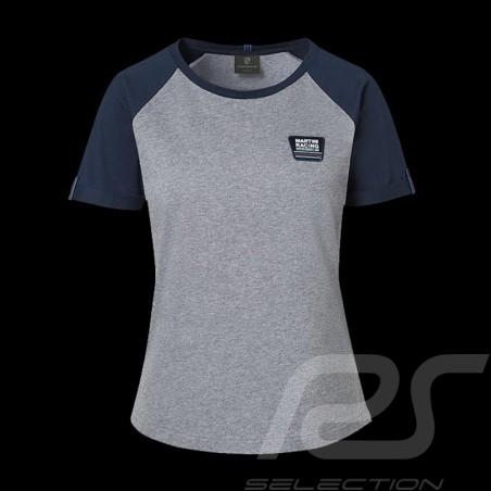 T-shirt Porsche Martini Collection Porsche WAP552 gris / bleu grey / blue grau / blau femme women damen