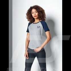 T-shirt Porsche Martini Collection Porsche Design WAP552 gris / bleu grey / blue grau / blau femme women damen
