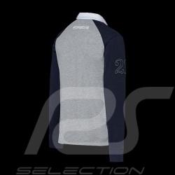 Polo Porsche Martini Collection manches longues Porsche Design WAP554K long sleeves lange armel gris / bleu grey / blue gra