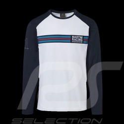 T-shirt Porsche Martini Collection blanc / bleu Porsche Design WAP553 manches longues long sleeves lang armel homme men herren