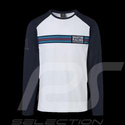 T-shirt Porsche Martini Collection blanc / bleu Porsche WAP553 manches longues long sleeves lang armel homme men herren