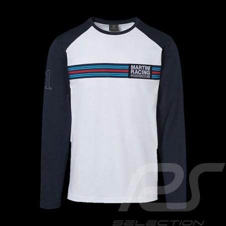 Porsche long sleeves shirt Martini Collection white / blue Porsche WAP553 - men