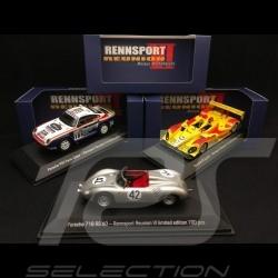 Trio Porsche 959 / 718 / RS Spyder Rennsport Reunion VI Laguna Seca 2018 1/43 Spark MAP02014018 MAP02004718 MAP02016118