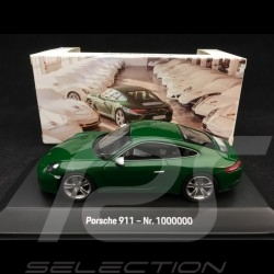 Porsche 911 type 991 Carrera S N° 1 million 1000000 vert Irlandais 1/43 Spark MAP02003318 Edition 70 ans 70 years 70 jahre