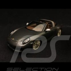 Porsche 911 type 991 Targa 4 GTS 1/43 Spark WAX02020078 gris quarz graphite grey grau