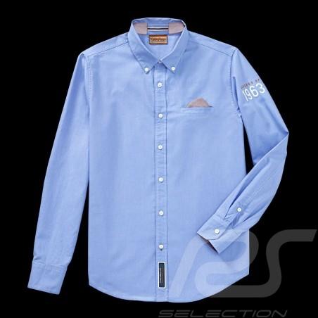 Chemise Shirt Hemd Porsche Classic Collection 1963 bleu blue blau Porsche Design WAP716 - homme men herren