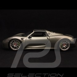 Porsche 918 Spyder 2016 metallic grau Schwarze geschlossene Top Version 1/18 Welly 18051 WS