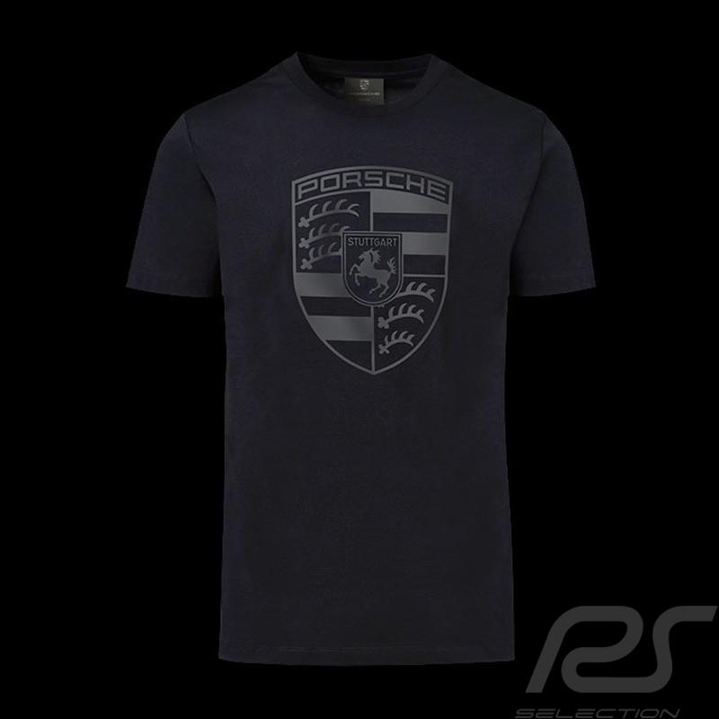 T-shirt Porsche écusson géant noir Porsche Design WAP821 black crest schwarz wappen homme men herren