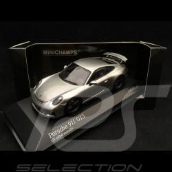 Porsche 911 GT3 type 991 phase II 2017 gris argent métallisé 1/43 Minichamps 413066034