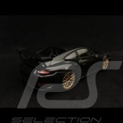 Porsche 911 GT3 RS type 991 Phase ll 2018 noir / jantes or 1/43 Minichamps 413067034