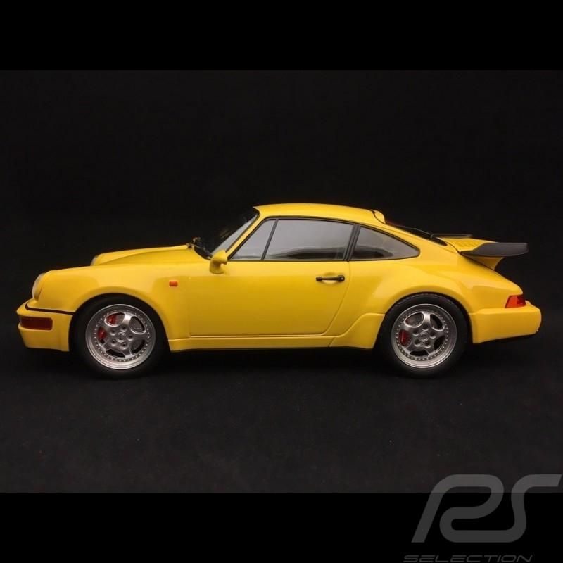 Porsche 911 type 964 Turbo 1990 jaune vitesse 1/18 Minichamps 155069100