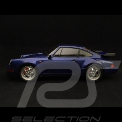 Porsche 911 type 964 Turbo 1990 blau metallic 1/18 Minichamps 155069101