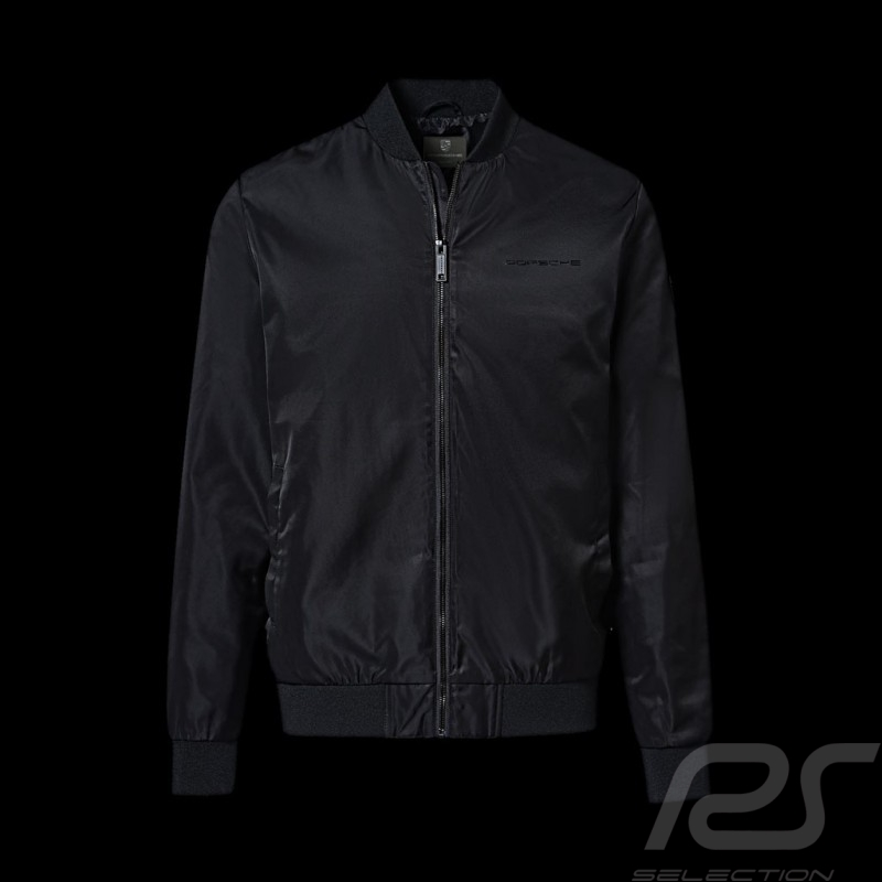 Veste Jacket Jacke Porsche Essential Collection blouson col baseball noir black schwarz Porsche Design WAP676 - homme