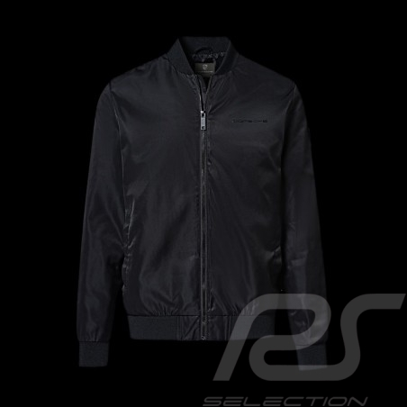 Veste Jacket Jacke Porsche Essential Collection blouson col baseball noir black schwarz Porsche WAP676  - homme
