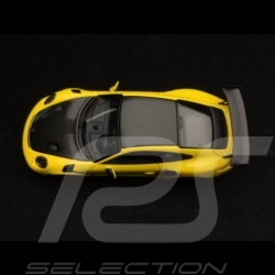 Porsche 911 GT3 RS type 991 Pack Weissach 2018 jaune racing / noir 1/43 Minichamps WAX02020085