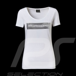 T-shirt Porsche Essential Collection Porsche Design WAP825 blanc / motif argent white silver weiß silber femme women damen