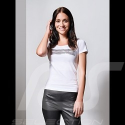 T-shirt Porsche Essential Collection Porsche Design WAP825 blanc / motif argent white silver weiß silber femme women damen
