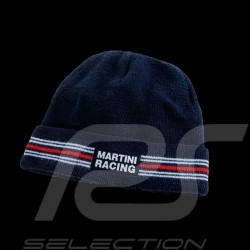 Bonnet Martini Racing à revers laine bleu marine taille unique