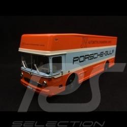 Mercedes 0317 camion Porsche transporteur Gulf 1/43 Schuco 450372800 truck carrier lkw koffer
