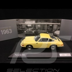 Porsche 901 Coupé 1963 jaune 1/43 Minichamps WAP0209110H