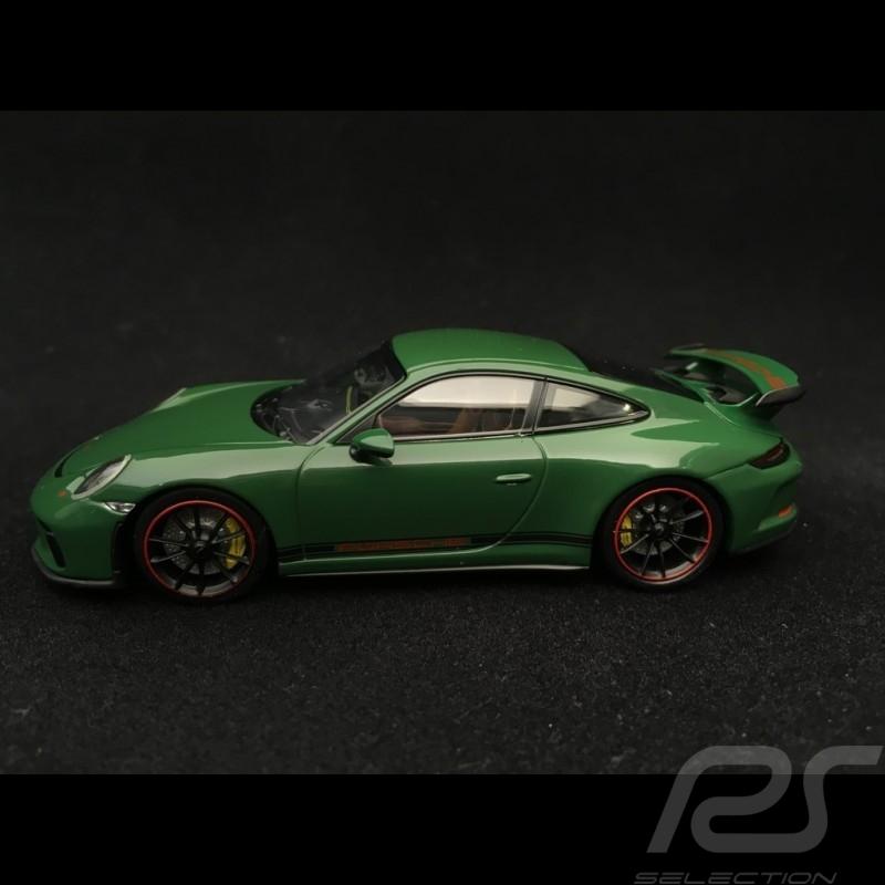 Porsche 911 type 991 GT3 phase II 2017 vert Irlandais Irish Green Irischgrün 1/43 Minichamps 410066028